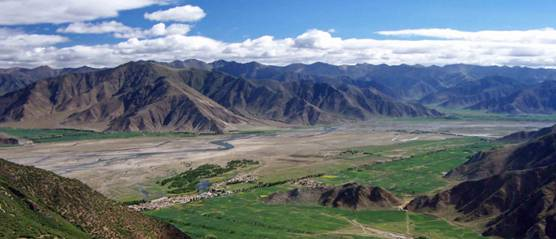 Farmland in Tibet